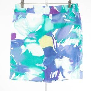 ANN TAYLOR Loft – Abstract Floral Skirt – Size 6